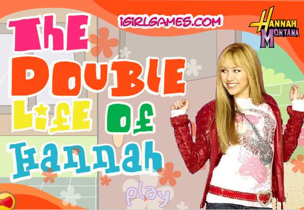 Игры для девочек Ханна Монтана.