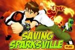 Бен 10:Бен 10 игры - Спасти Спарквиль
