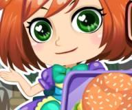 Лили готовит бургер