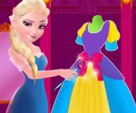 Эльза шьет платье