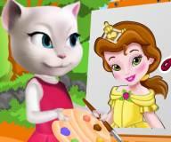 Говорящий кот:Анжела рисует Белль