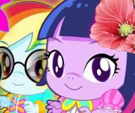 Пони:Маленькие Твайлайт спаркл и Рембол дэш
