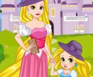 Рапунцель и дочка примеряют платья