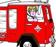 Пожарный Сэм:Раскраска пожарного Сэма