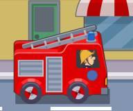 Пожарный Сэм:Пожарная машина тушит пожар