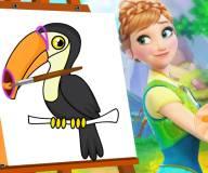 Анна учится рисовать