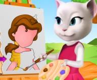 Говорящая Анжела рисует принцессу Белль