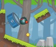 Ежик собирает яблоки 2