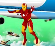 Железный человек:Железный человек защищает самолет