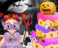 Эмма готовит торт на Хэллоуин