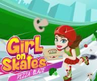 Девушка на роликах: Пицца мания