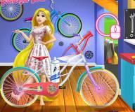 Рапунцель собирает велосипед