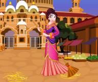 Мулан делает уборку во дворце