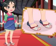 Дизайн обуви Мулан