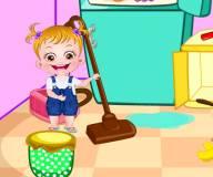 Малышка Хейзел делает уборку