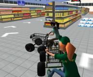 Игры гонки:Гонки на тележках в супермаркете