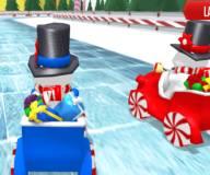 Игры на Новый год:Новгодние гонки снеговиков