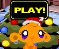 Счастливая обезьянка и рождественская елка
