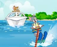 Супер трюки Тома и Джерри на водных лыжах