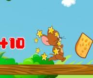 Том и джерри:Джерри бежит и ест сыр