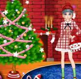Игры на Новый год:Эльза украшает елку на Новый год