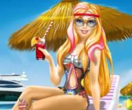 Супер принцесса Барби на пляжном отдыхе