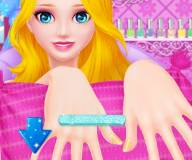 Принцесса Эльза в салоне красоты