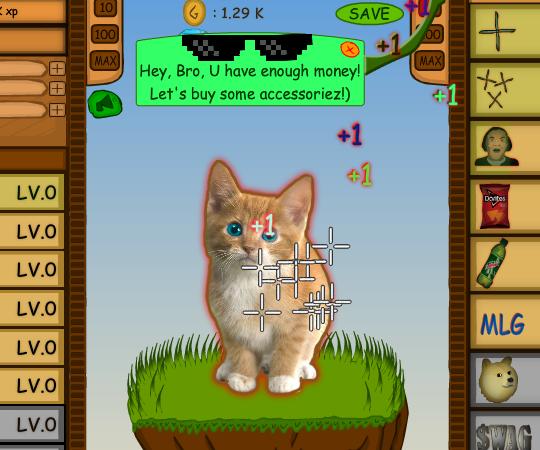 Игры кликеры с котами