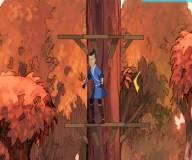 Аватар игры:Сокка прыгает по деревьям