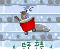 Снежные гонки Ригби и Мордекая