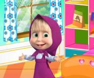 Маша убирает комнату