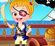 Малышка Хейзел пират
