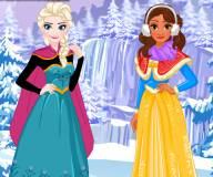 Зимние каникулы Эльзы и Моаны