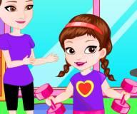 Безделье Анны в спортзале