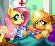 Пони:Эпплджек лечит живот