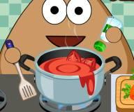 Безделье Поу на кухне