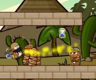 На двоих:Мумия и Фараон охранют скоровища