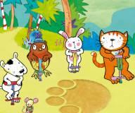 Кошка Поппи и друзья убегают от слона