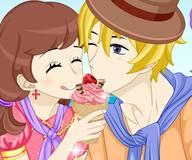 Игры для мальчиков:Влюбленная парочка кушает мороженое