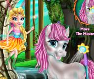 Пони:Принцесса-фея ухаживает за пони