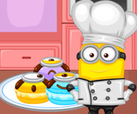 Миньон готовит миндальное печенье
