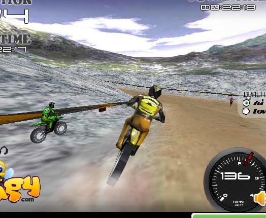 Играть в гонки на двоих на мотоциклах