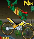 Черепашки ниндзя:TMNT- гонки на мотоцикле