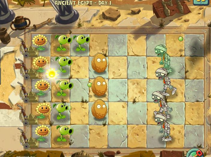 Как играть в растения против зомби 2