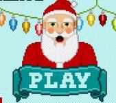 Игры на Новый год:Снежки с Сантой