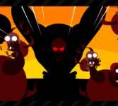 Игры про зомби:На тележке против зомби