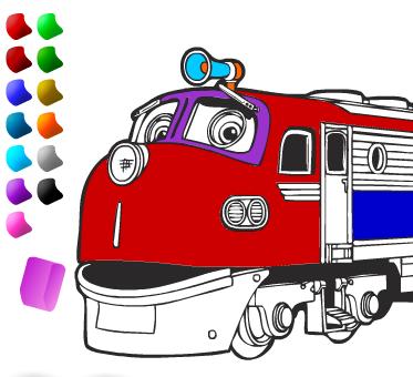 Игра раскраска паровозиках