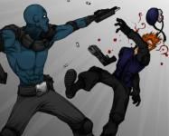 Игры стрелялки:Синий Дедпул