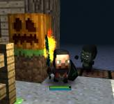Майнкрафт:Стив и Херобрин против зомби