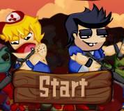 Игры про зомби:Приятели против зомби